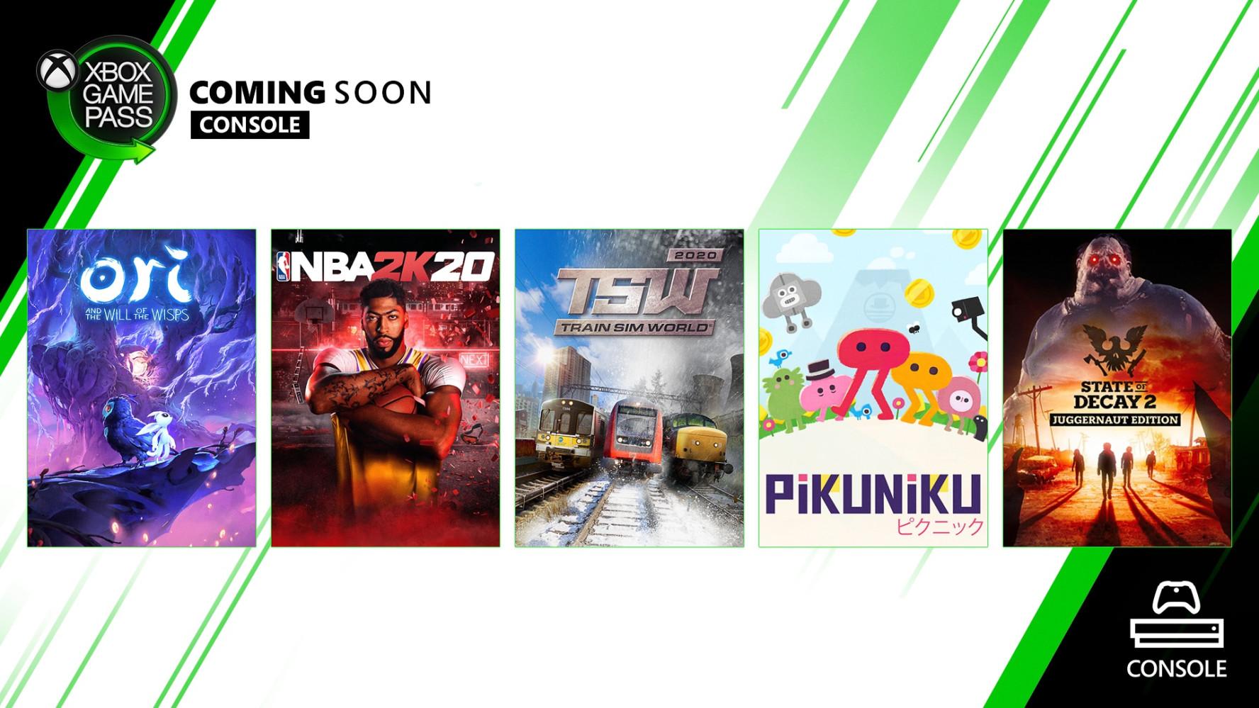 三月XGP新游戏:《NBA 2K20》《精灵与萤火意志》等
