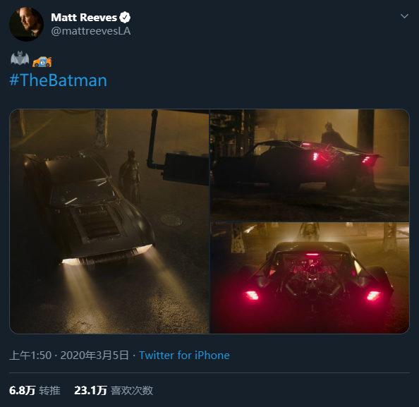 新版《蝙蝠侠》电影的蝙蝠车可能是近年最低调的一辆