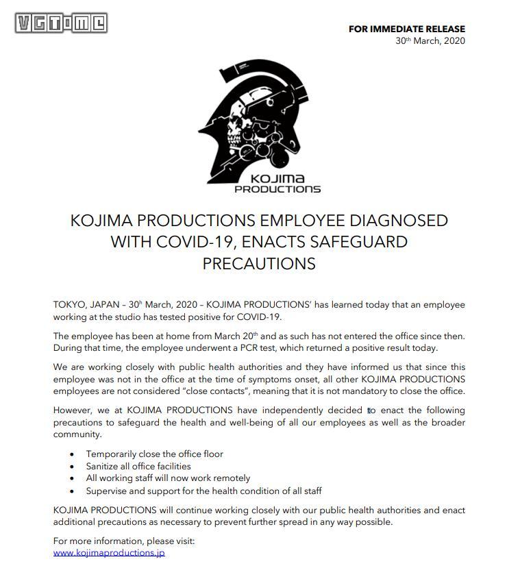 小島工作室員工確診感染新冠病毒,工作室暫時關閉