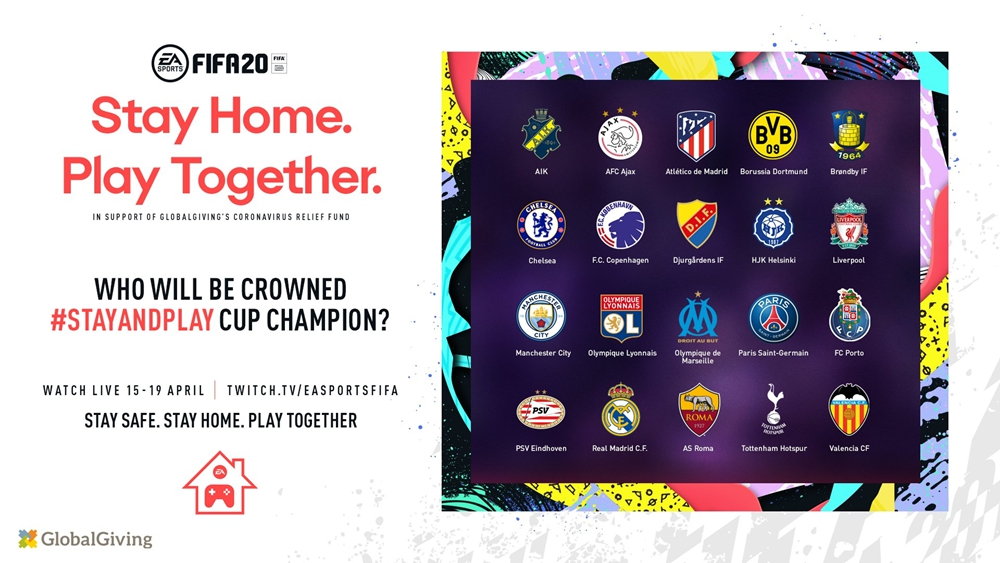 多家绿茵豪门将派出现役球员参加《FIFA 20》慈善赛