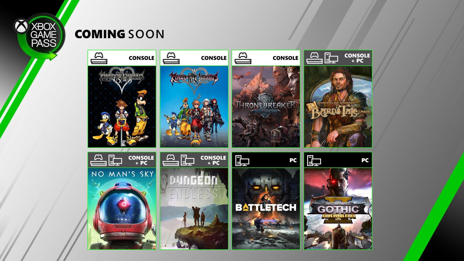 XGP六月新游戏:《王国之心》礼包,还有《王权的陨落》等