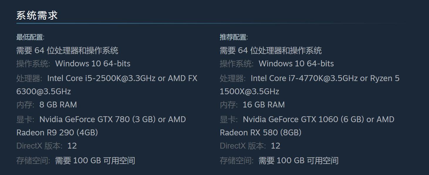 《地平线 零之曙光》PC版将于8月7日发售