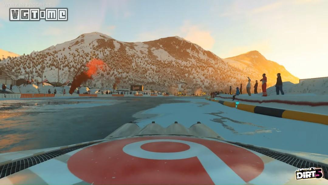 《尘埃5》雪地赛实机演示公开:冰天雪地下的狂飙