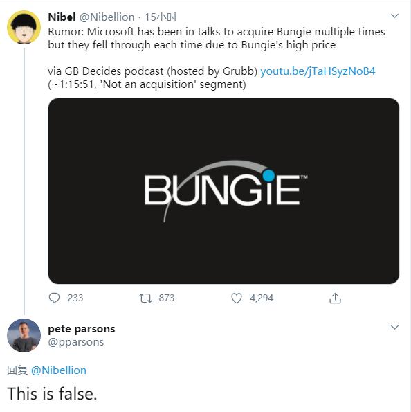 微软曾尝试收购Bungie?Bungie CEO出面否认
