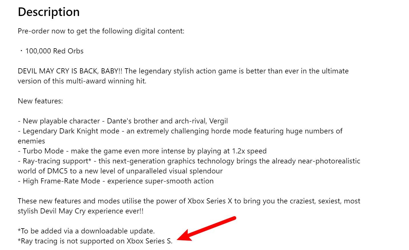 【更新】官方确认Xbox Series S不支持《鬼泣5 特别版》光线追踪
