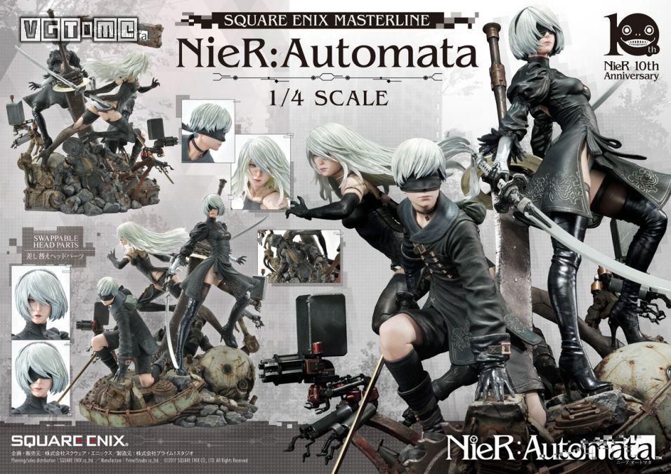 《尼尔 机械军团》雕像在官网开启预订 细节一览无余