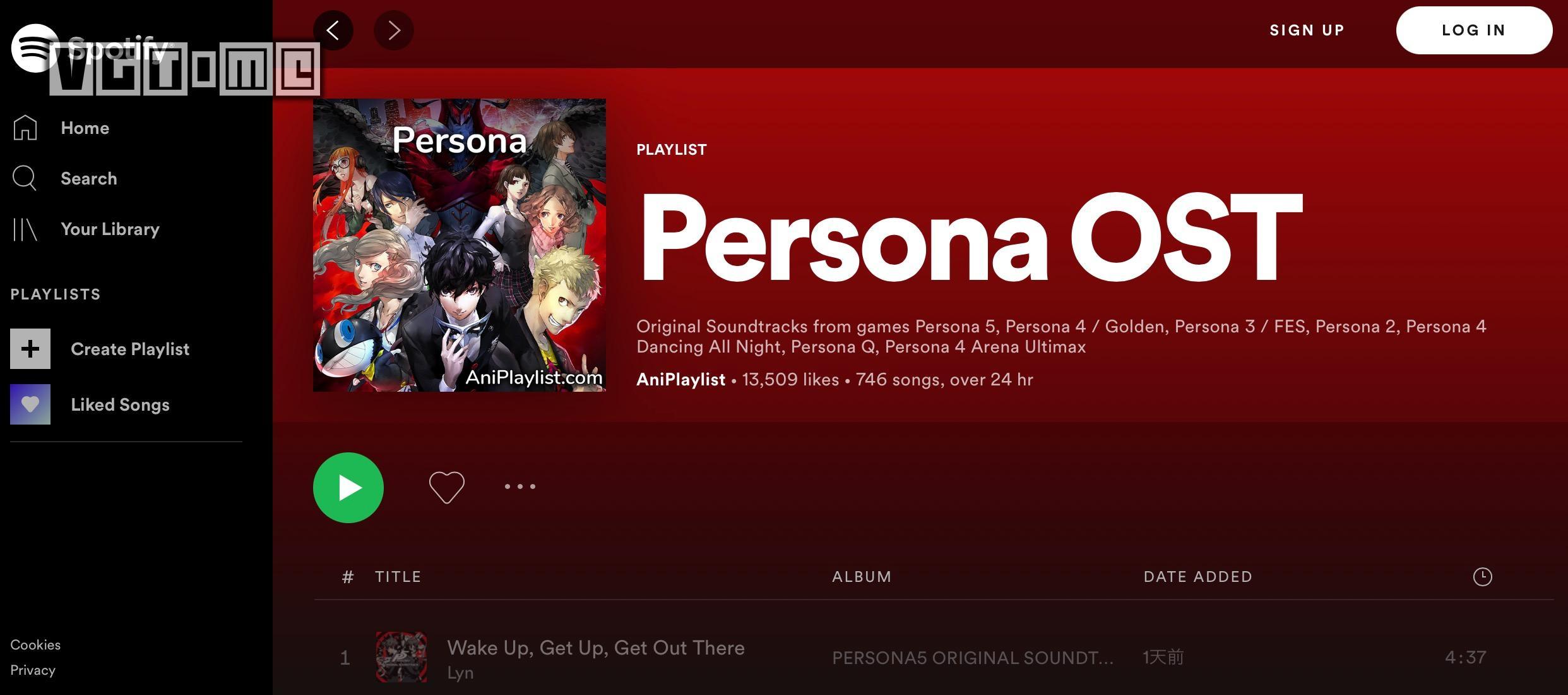 《女神异闻录》原声带现已登陆音乐平台Spotify