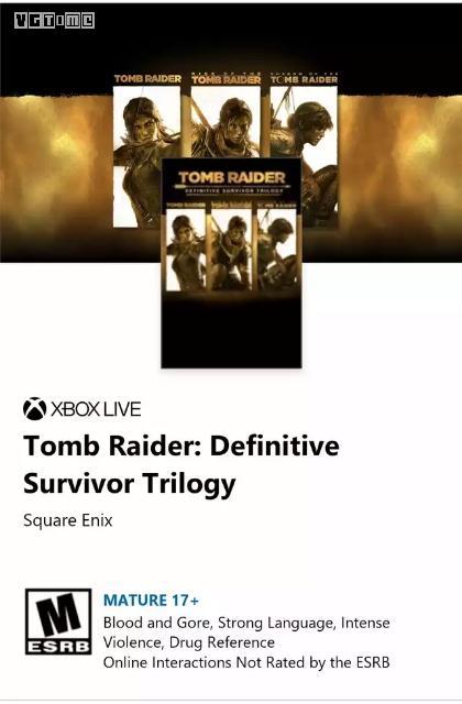 一款《古墓丽影》新合集被微软商店泄露
