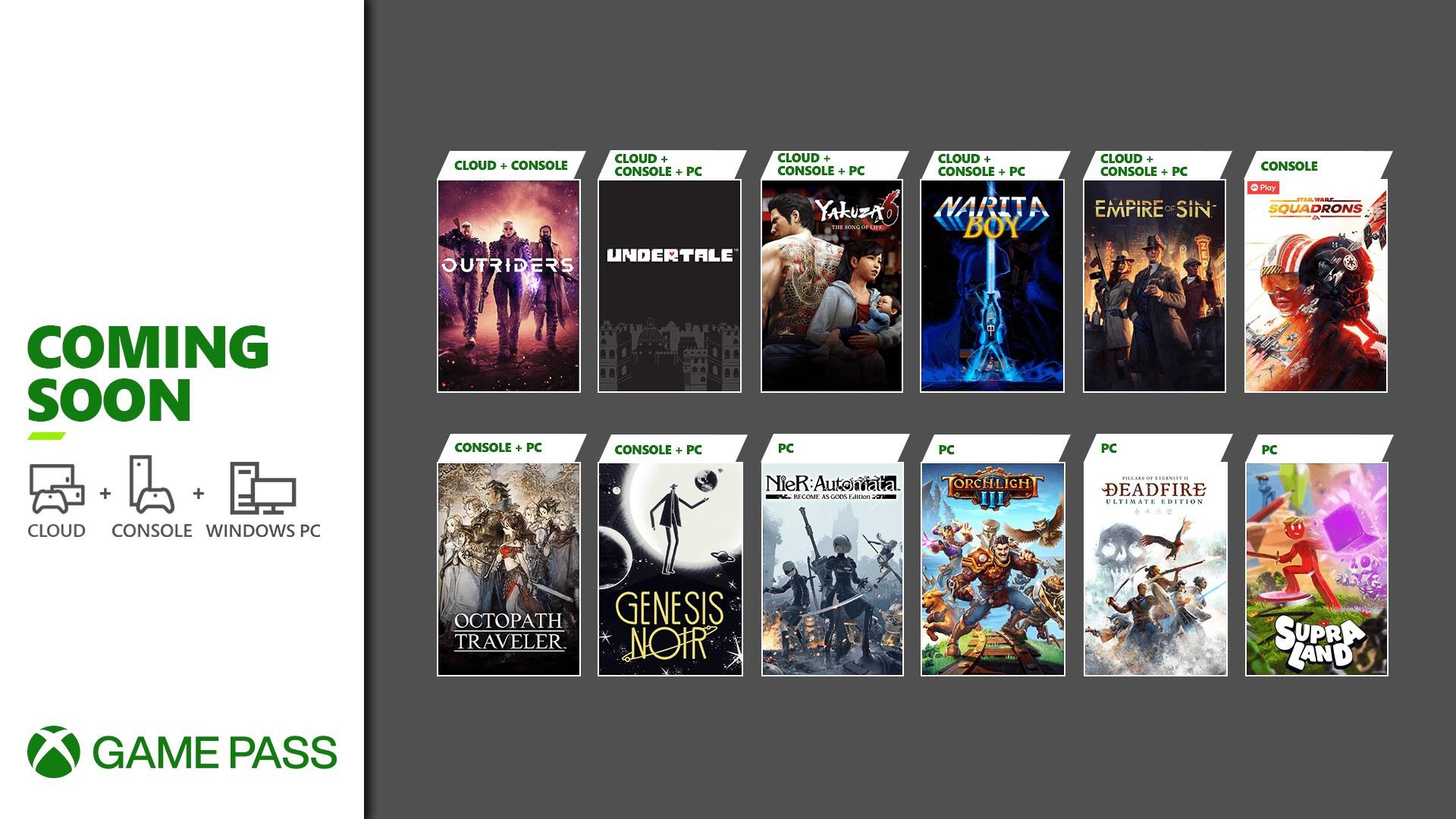XGP新游戏:《八方旅人》《如龙6》《先驱者》等