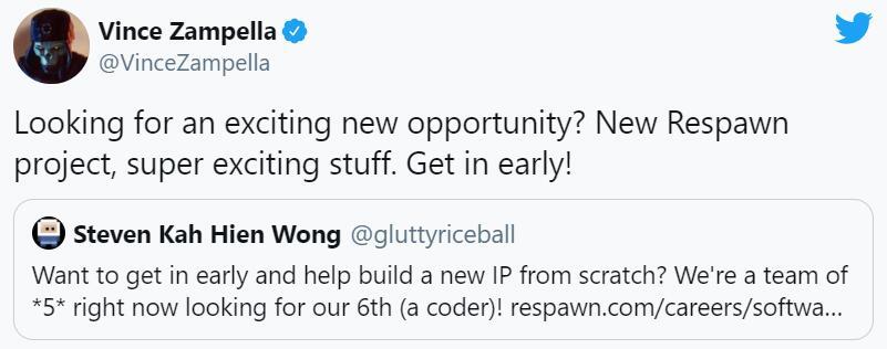 重生工作室正在为一个开发全新IP的项目招人