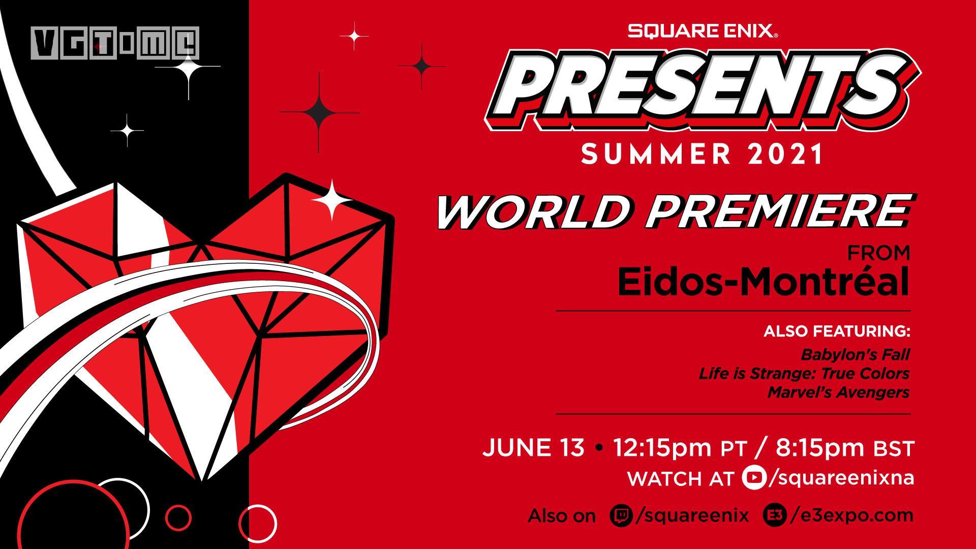 Square Enix E3发布会将于6月14日3:15举办