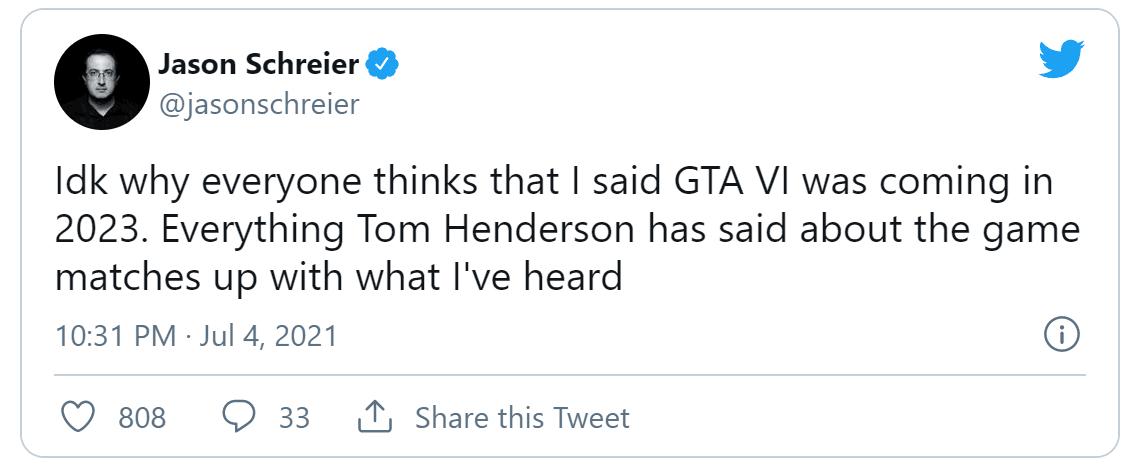 【传闻】在《GTA6》里玩家将重返罪恶都市