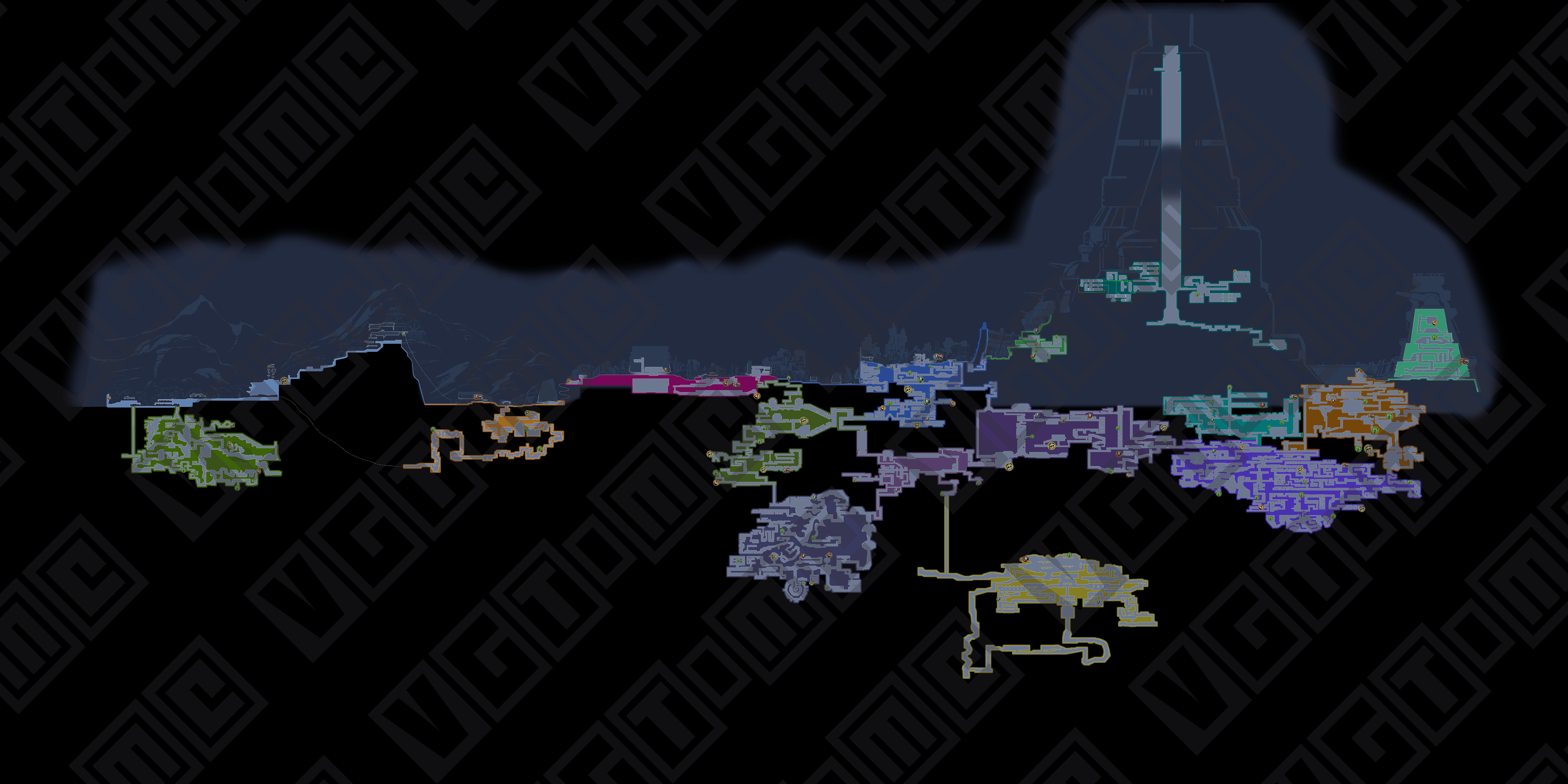 《暗影火炬城》全收集地图