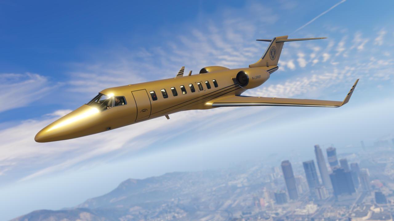 《gtaol》再获更新 黄金飞机尽显尊贵