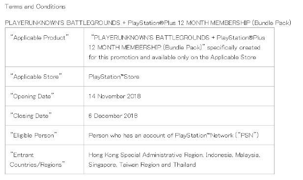 PlayStation官网泄露PS4《绝地求生》会员组合套装