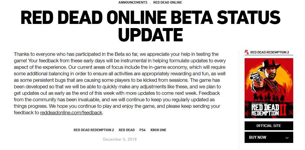 Rockstar将会重新调整《荒野大镖客Online》的经济系统