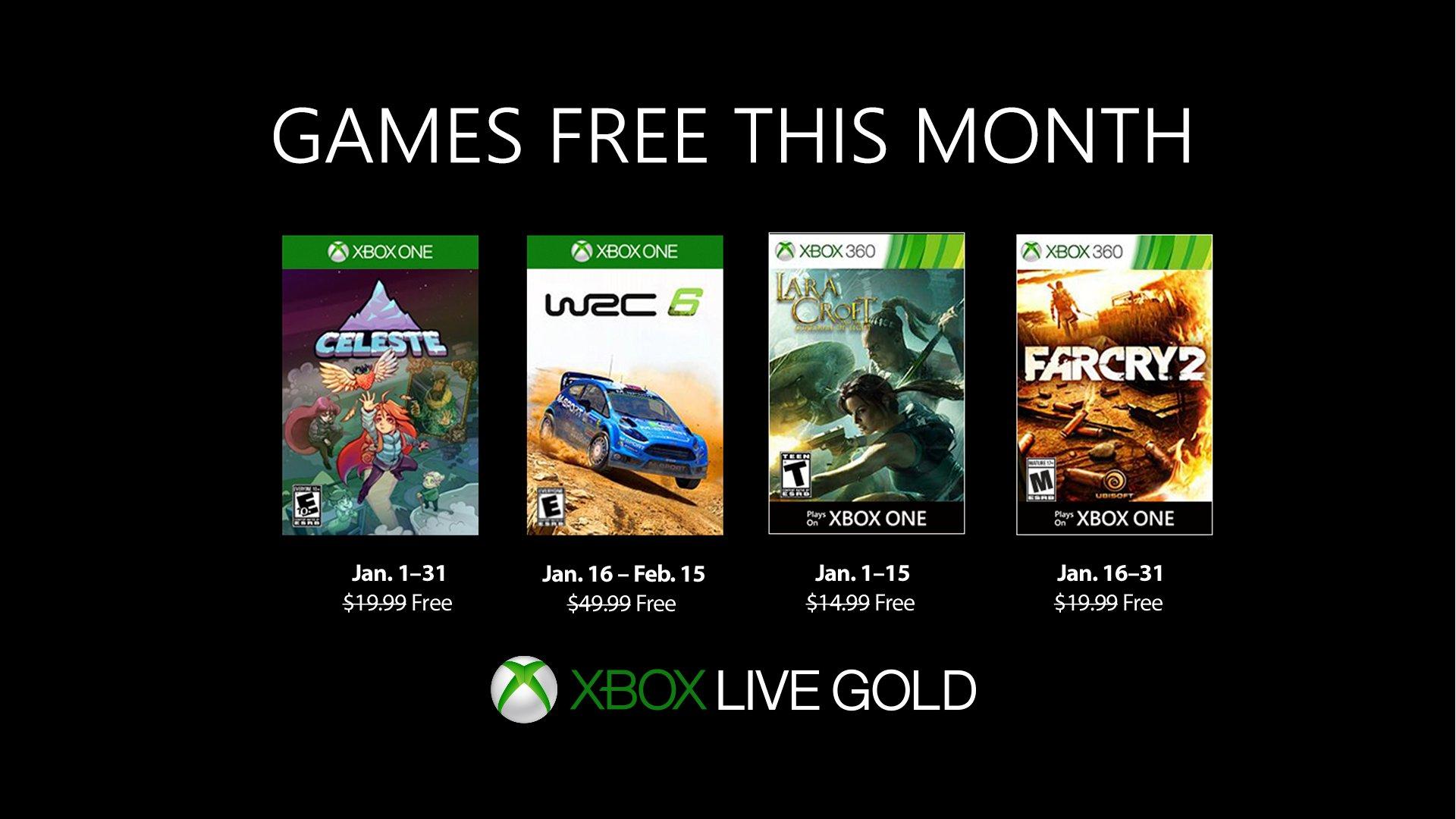 2019年1月Xbox金会员免费游戏公布