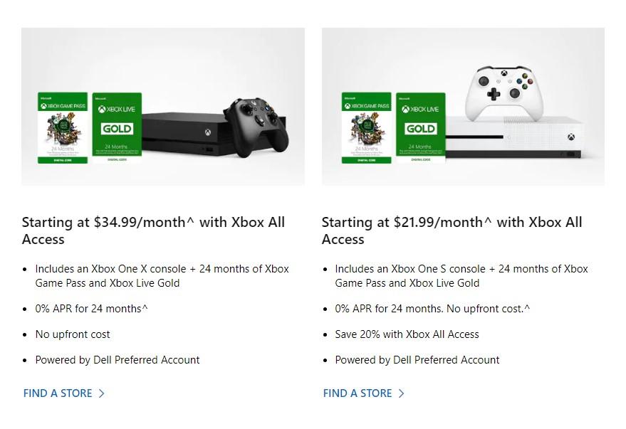 微软暂时停止Xbox All Access服务 明年回归