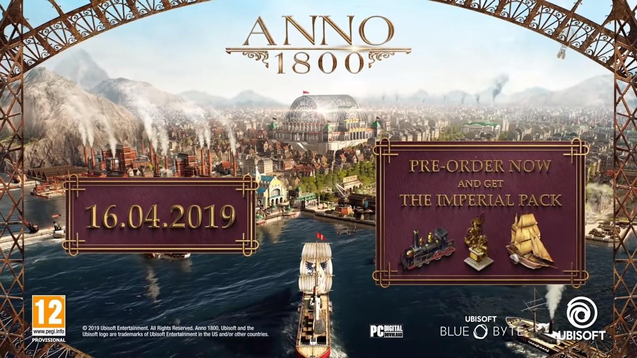 《纪元1800》发售日延期至4月16日
