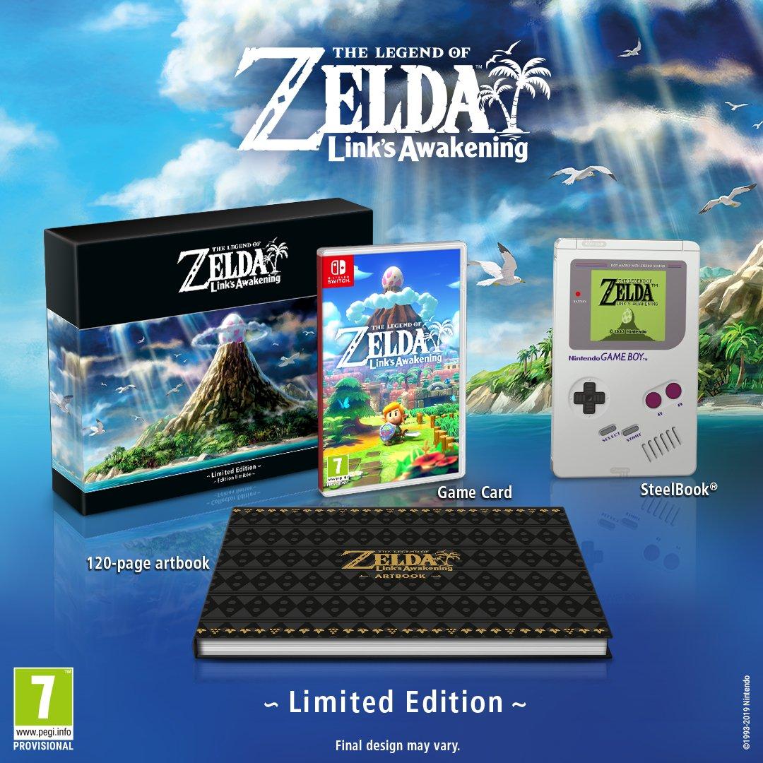《塞尔达传说 织梦岛》限定版公布:内含一个复古铁盒