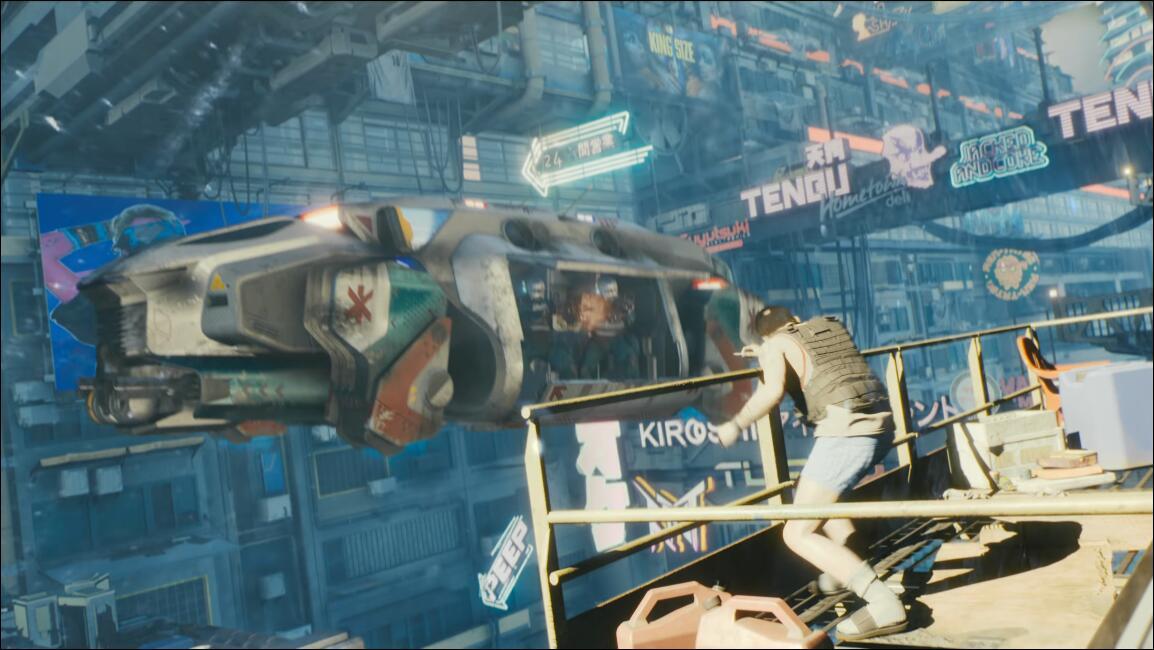 《赛博朋克2077》中你并不能自由驾驶飞行载具