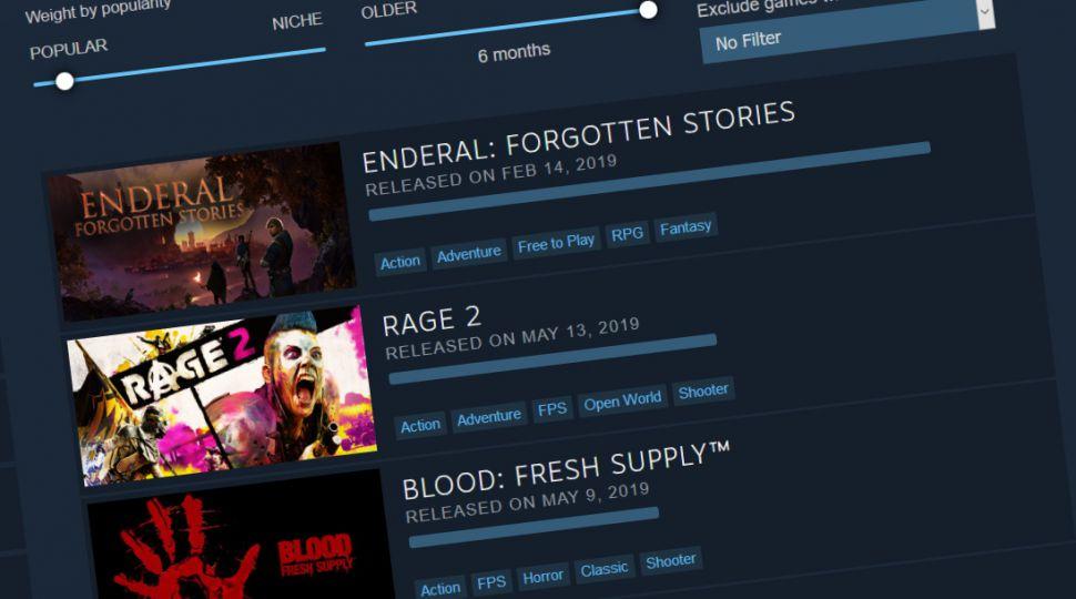 Steam游戏推荐系统更新了 官方还将继续改进