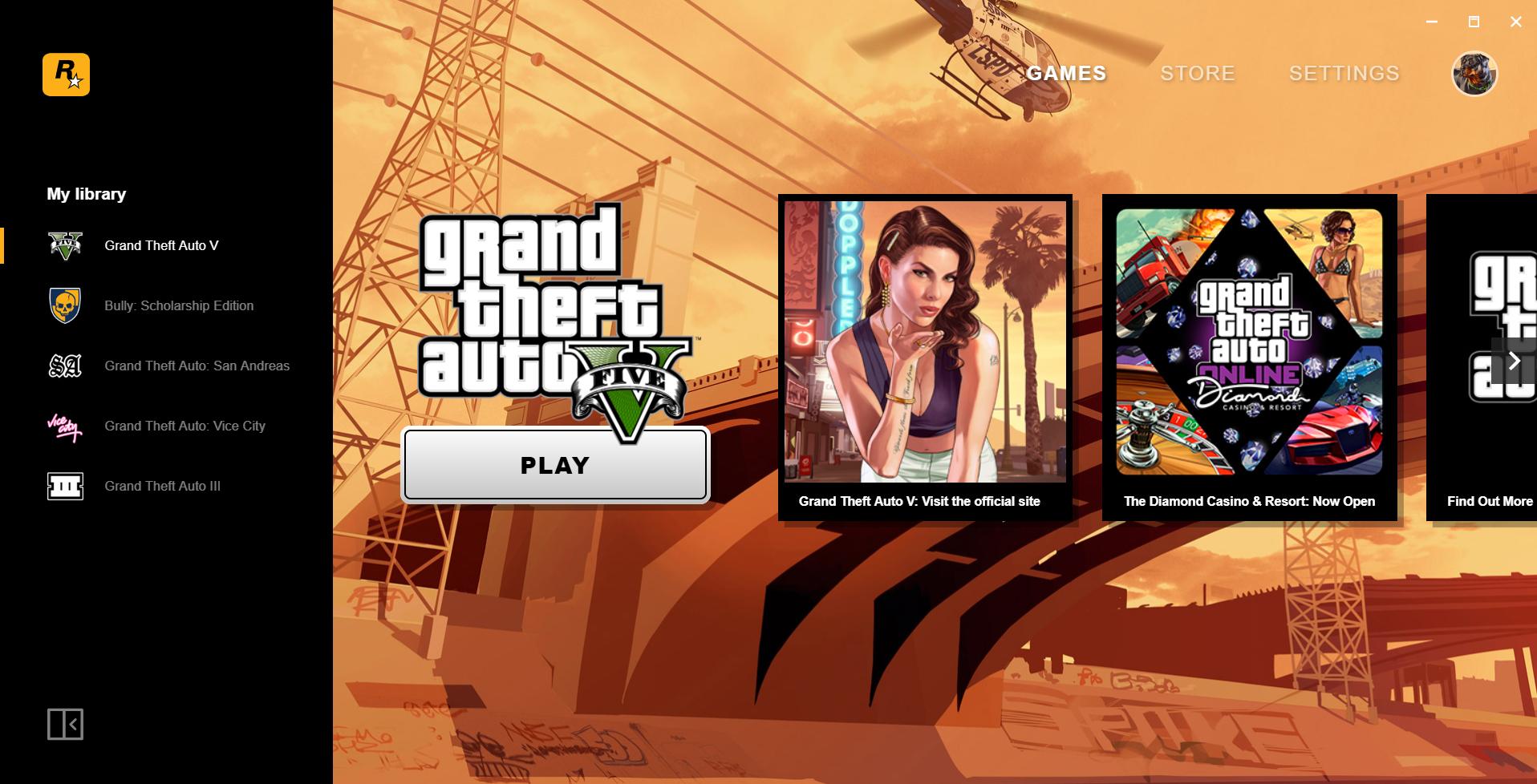 Rockstar也有自家PCbetway官网手机版启动器了,下载就送经典betway官网手机版