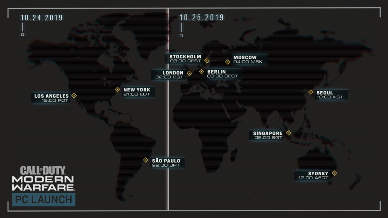 《使命召唤 现代战争》各地区PC版解锁时间公布