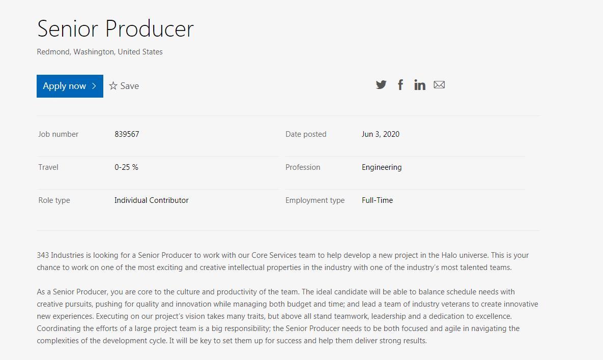 除了《光环 无限》外,343还在筹备一个系列新项目
